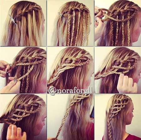 Very Fascinating And Captivating Long Hair With French Waterfall Braids. Beautiful  Easy Hairstyles