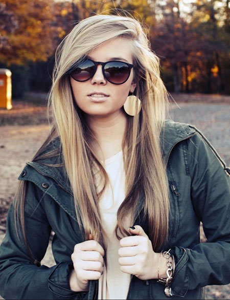 Cute Hairstyle For Long Straight Hair With Side Bangs Gorgeous Celebrity Hairstyles