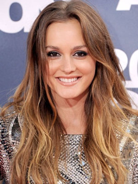 Leighton Meester Cute Blonde Ombre Hair