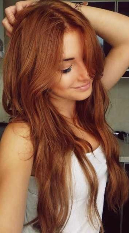 Red Colour Hair Styles