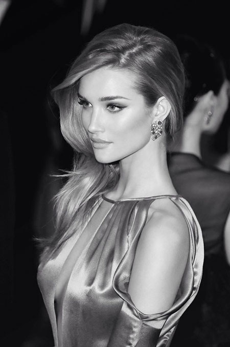 Rosie Huntington Straight Hair