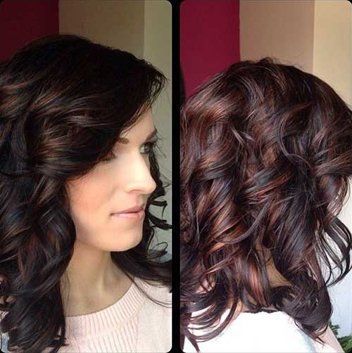 Side Swept Curly Hairstyle for Girls with Curly Hair