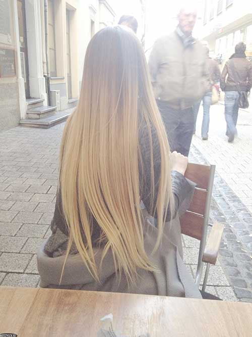 Blondie Ombre Very Long Hairstyles
