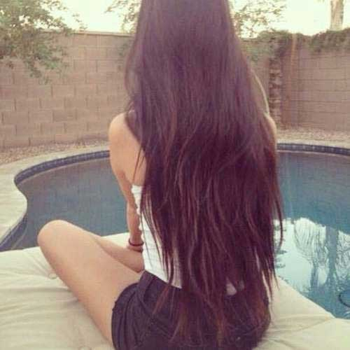 Trendy Long Black Hairstyle
