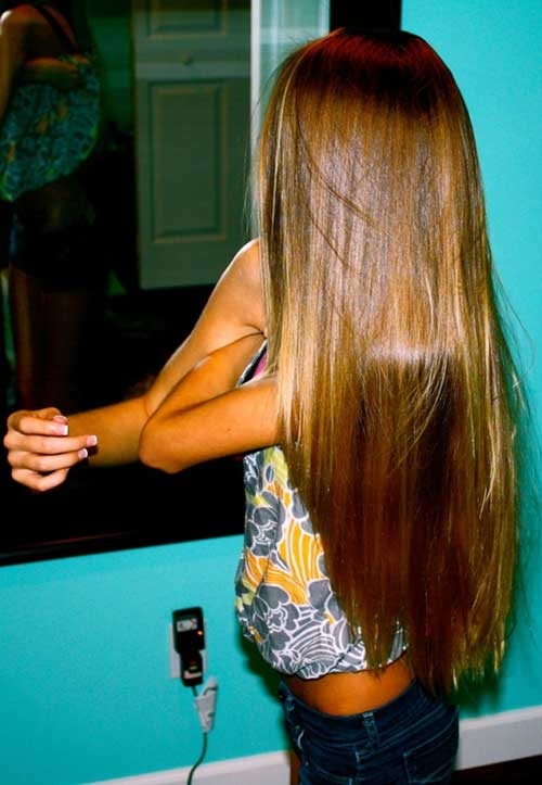 Brown Straight Fine Hair
