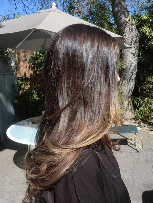 Brunette with Blonde Highlighted Hairstyles