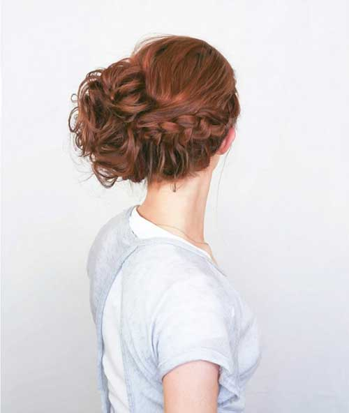 Chic Updo with Braid Hairtyles