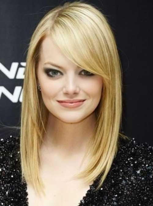 Emma Stone Blonde Hairstyle Bangs