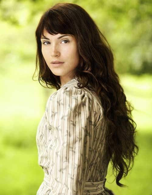 Gemma Arterton Wavy Long Hairstyle with Bangs