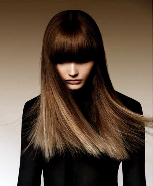 Ombre Hair with Bangs