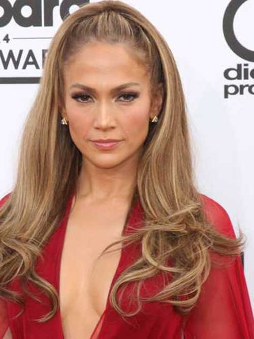 15 best prom hairstyles hairstyles haircuts 2016 2017 jennifer lopez straight half ponytail with curly ends pmusecretfo Image collections