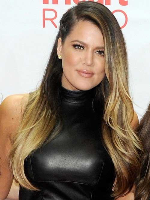 Khloe Kardashian Ombre Fine Hair
