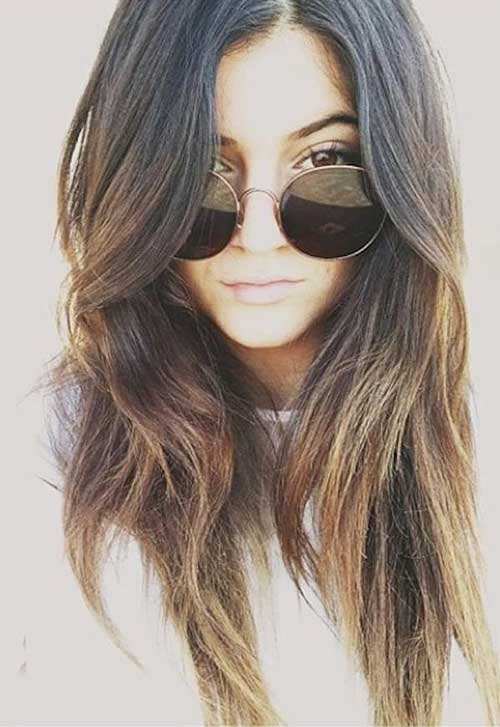 Kylie Jenner Ombre with Layered Haircuts
