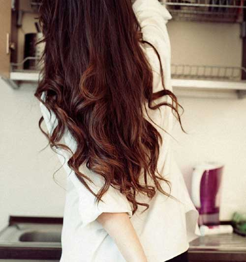 Long Hair with Curly Ends for Girls