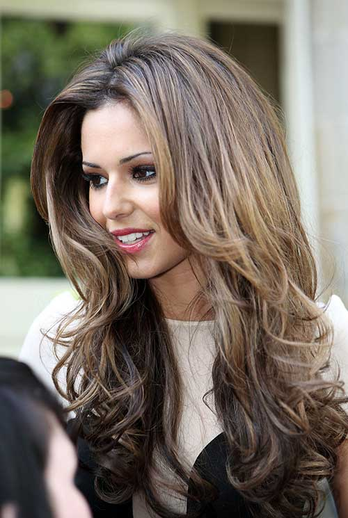 Cheryl Cole Wavy Layered Long Hair