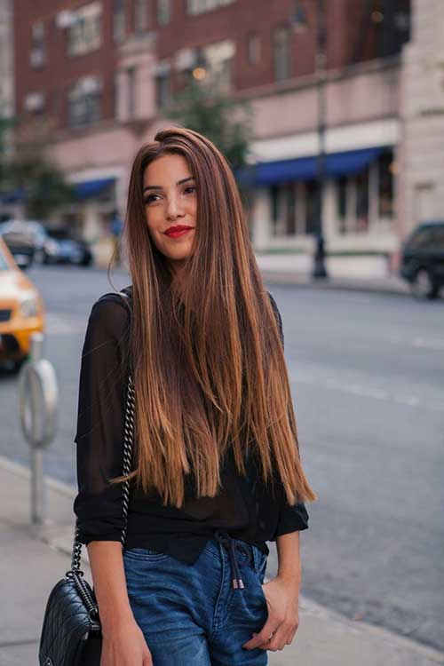 Voluminous Extra Long Hairdo. Extra Long Straight Hairstyles