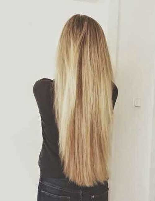 Long and Straight Blonde Hairstyles