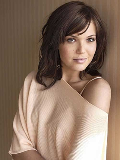 Mandy Moore Hair with Long Bangs