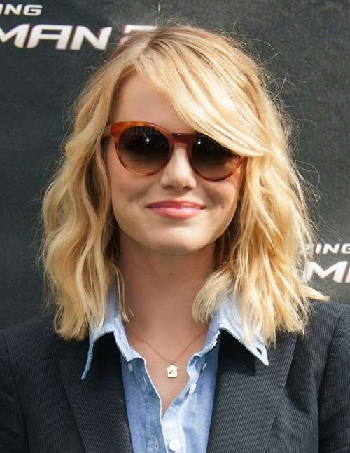 Emma Stone Medium Hairstyles