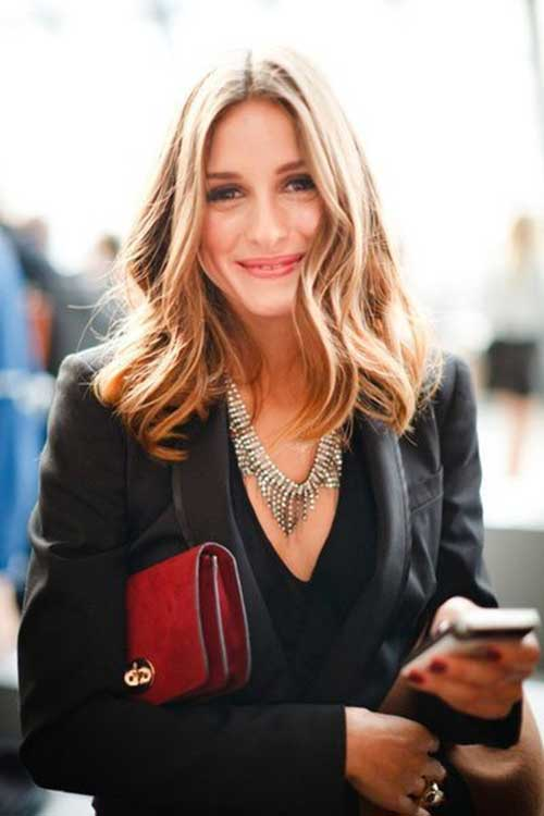 Olivia Palermo Blonde Wavy Styles