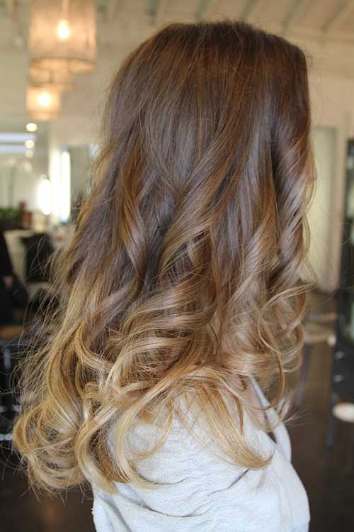 Ombre Colored Wavy Hairstyles