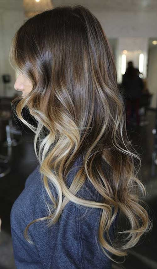 Blonde to brunette ombre
