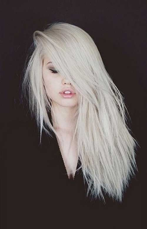 Long Platinum Blonde Hair