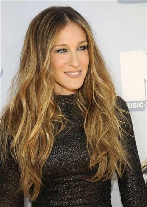Sarah Jessica Parker Caramel Long Hairstyles