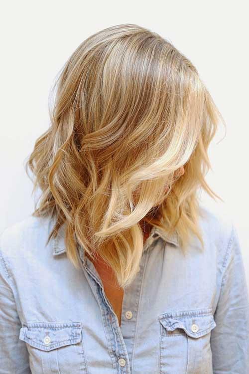 Wavy Long Bob Haircut Style