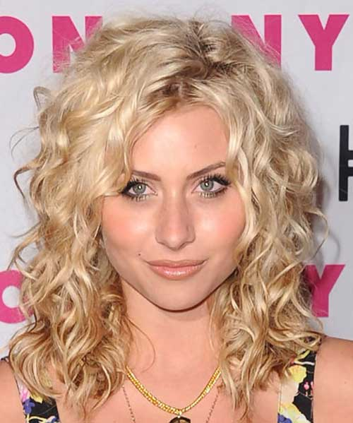 Aly Michalka Blonde Curly Hair