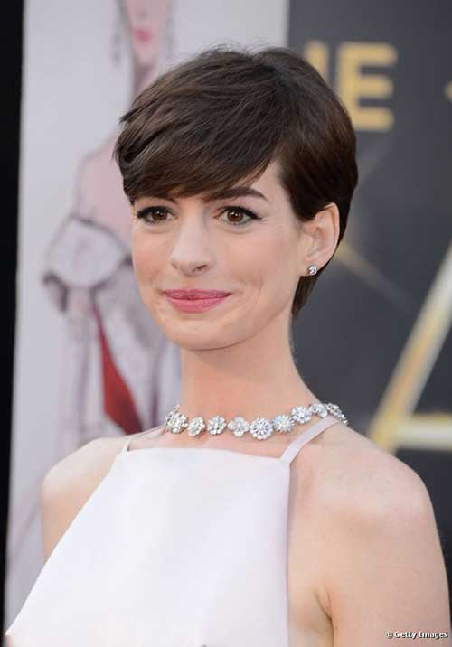 Anne Hathaway Short Hair for Prom