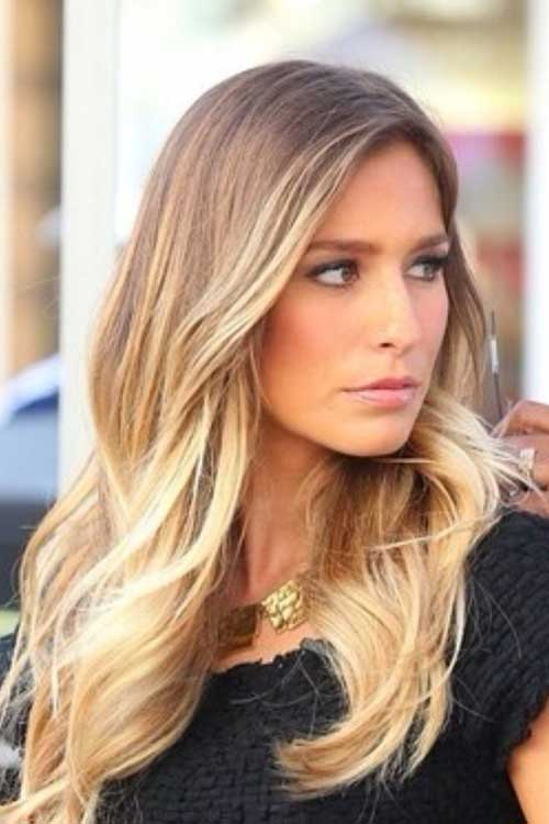 Balayage with Brown To Blonde Style