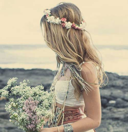 Beach Wedding Boho Hairstyle Idea