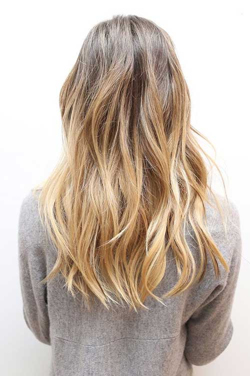 Blonde Beautiful Long Layered Hairstyle