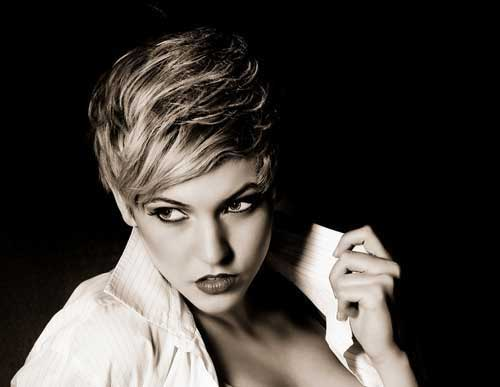 Stylish short asymmetrical pixie haircut - 25 Styles For Pixie Cuts Hairstyles Amp Haircuts 2016 2017