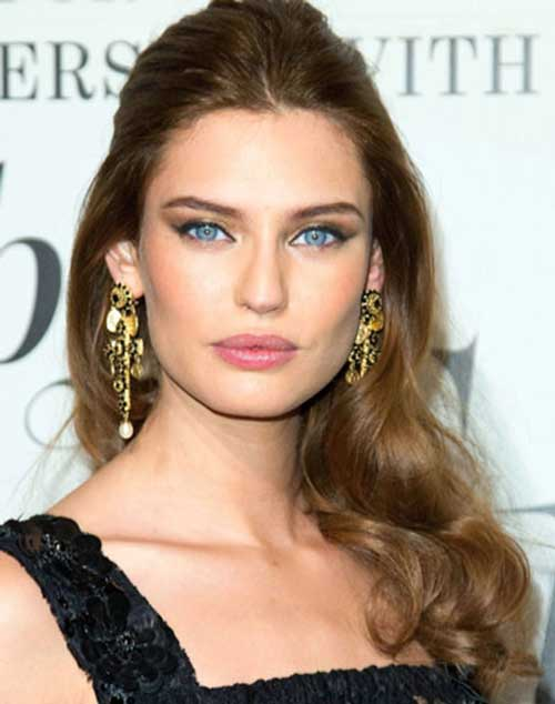 Bianca Balti Curly Half Up Hair