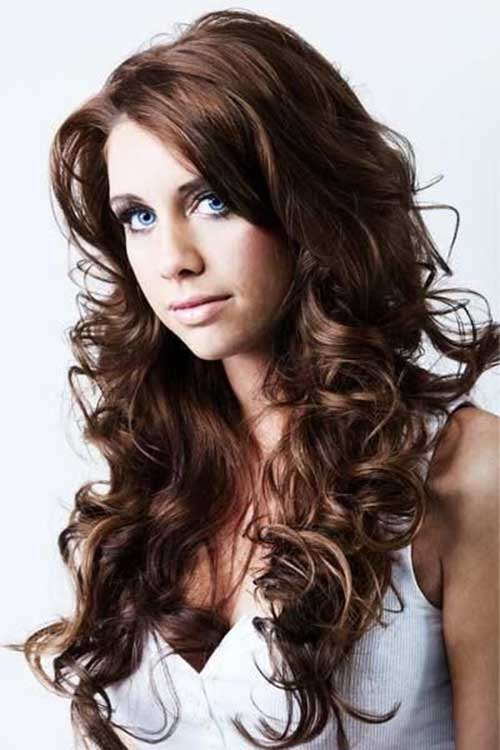 Amazing 35 Long Layered Curly Hair Hairstyles Amp Haircuts 2016 2017 Hairstyles For Women Draintrainus