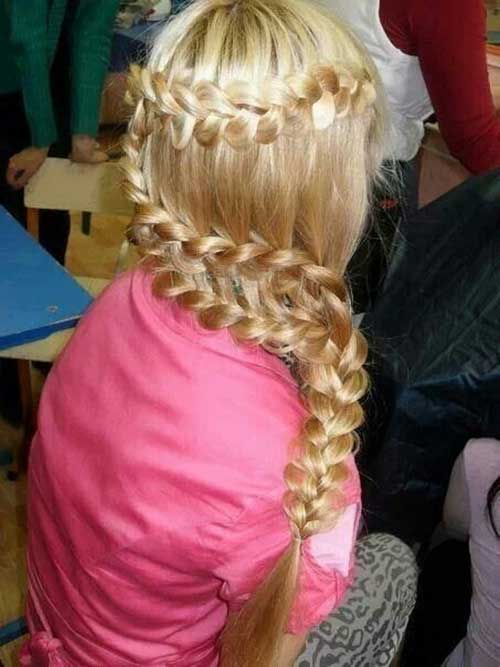 Cute Blonde Braided Hair