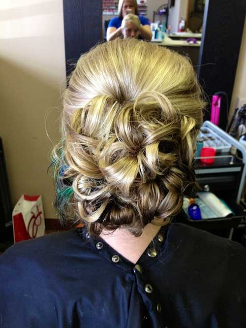 Blonde Casual Low Updo Hairstyles