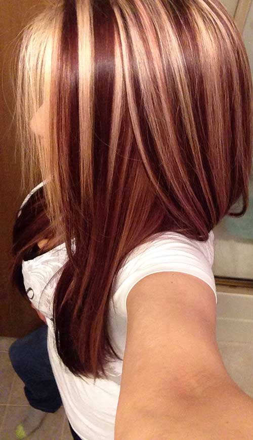 Blonde And Dark Brown Hair Color Ideas Hairstyles Haircuts - Hairstyles with dark brown and red