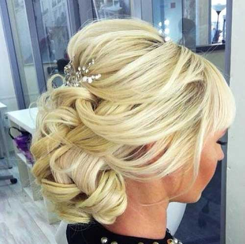 Blonde Curly Updo for Wedding