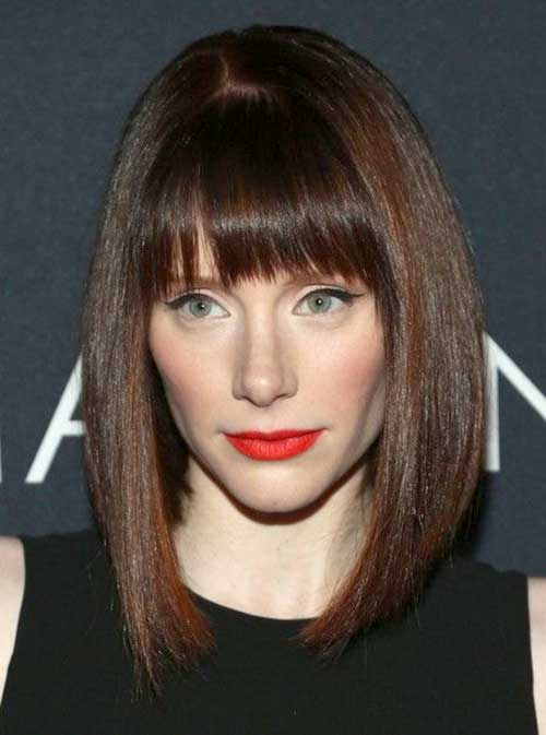 Medium Blunt Bob with Bangs