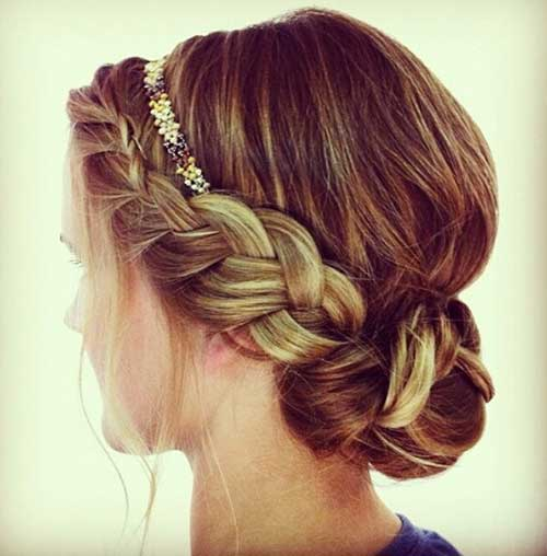 Cute Boho Braided Headband Bun