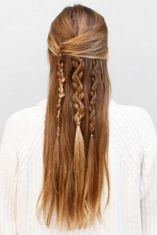 Boho Long Hairstyles with Braides
