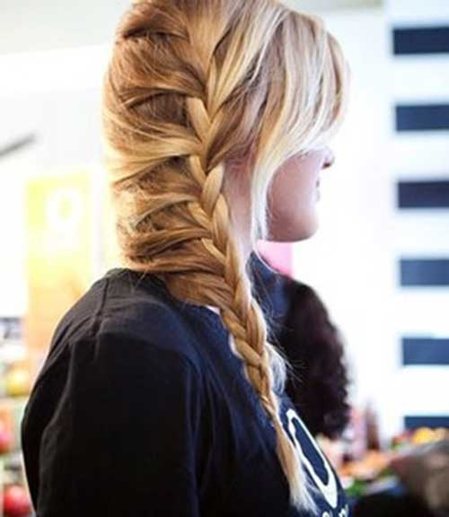 French Braid in Long Hair