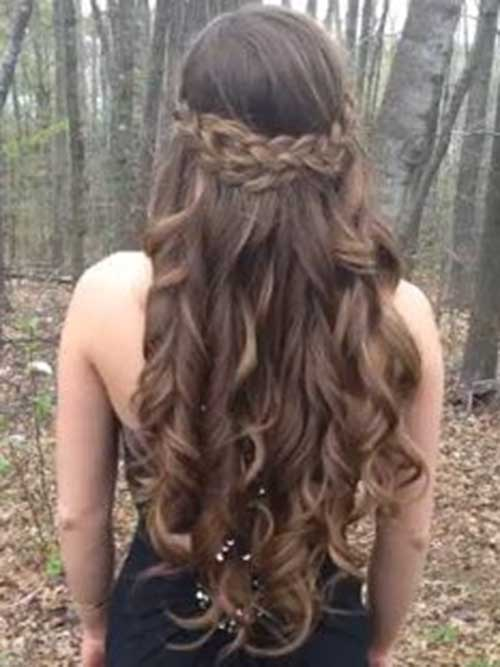 Braided Cute Girls Wavy Hairstyles