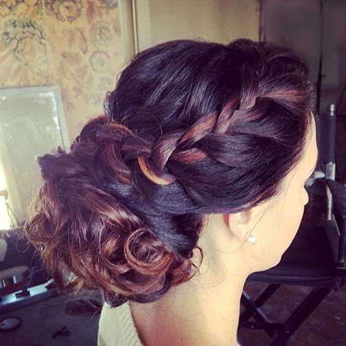 Braided Brown Hair Updos for Long Hairstyles