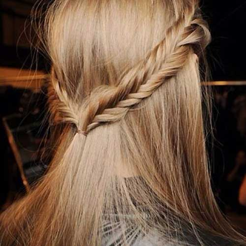 Cute Braided Half Up Easy Hair