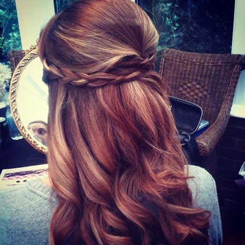 Best Braided Half Up Half Down Wedding Hair Idea