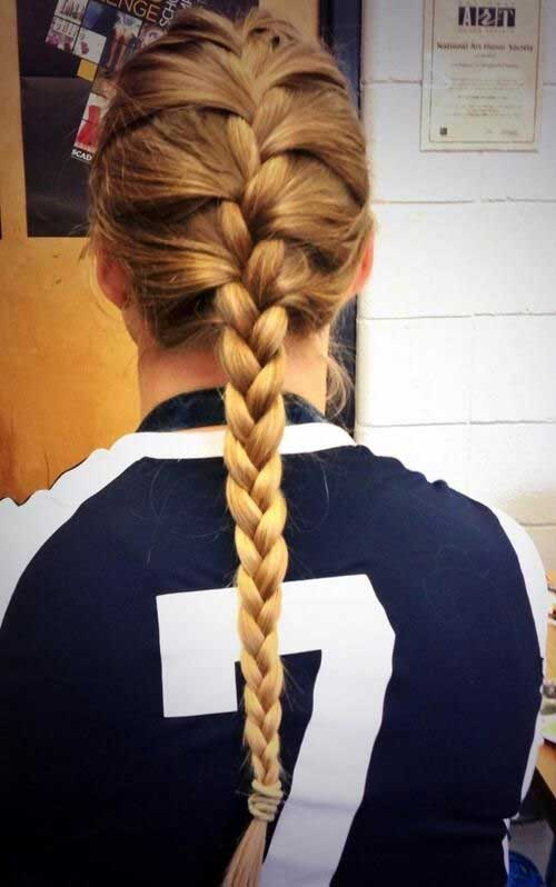 Braided Volleyball Long Hair